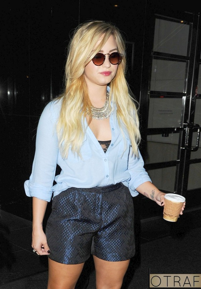 Demi Lovato out and about, New York, America - 05 Sep 2012