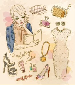 Vintage-Fashion-Woman-Vector